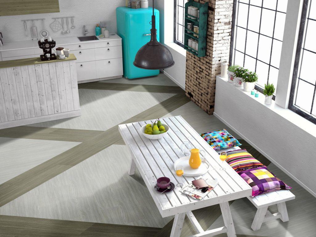 6 cozinhas decoradas com piso vin lico e piso laminado blog rc pisos - Fotos de pisos decorados ...
