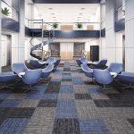 Ambiente corporativo pode ser colorido e elegante