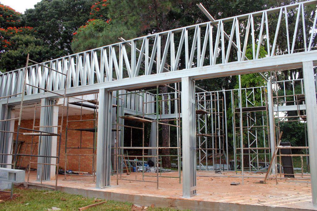 obra realizada com steel frame na Campinas Decor 2018